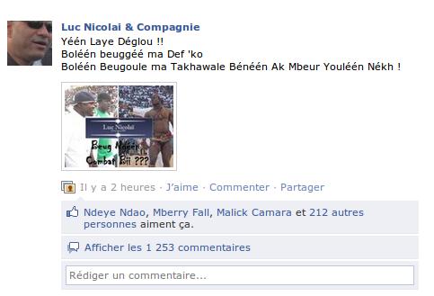 Page Facebook Luc Nicolaï